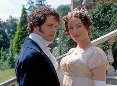 Colin Firth and Jennifer Ehle as Darcy and Elizabeth, 1995