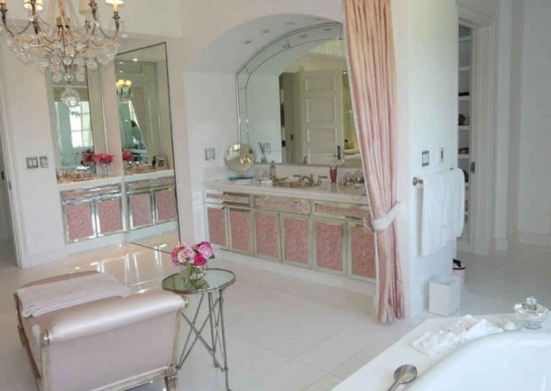 Pink Cabinets In Master Bath1 611x434