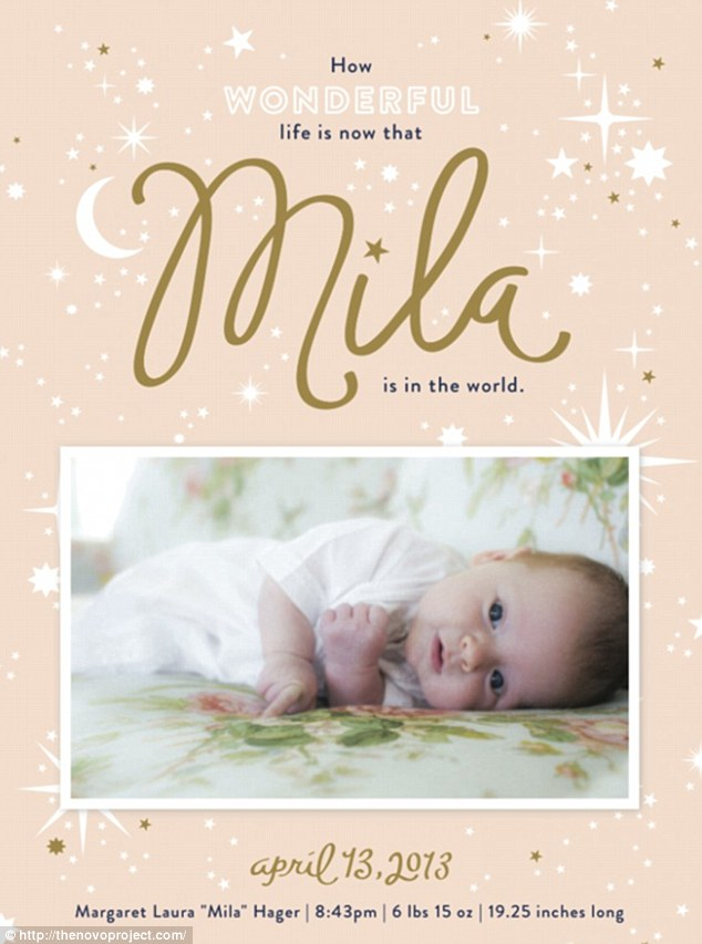Girly Girl by Author Kristin Billerbeck Mila Bushs Baby Announcement – Baby Name Announcement